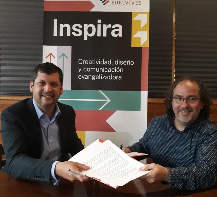 Firma del convenio con la Fundación Edelvives